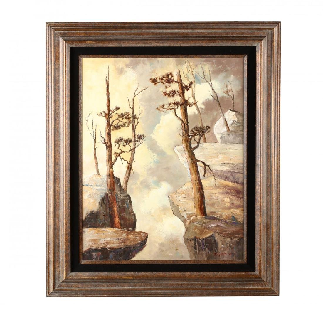 California Landscape Painting  Cliff Dwellers