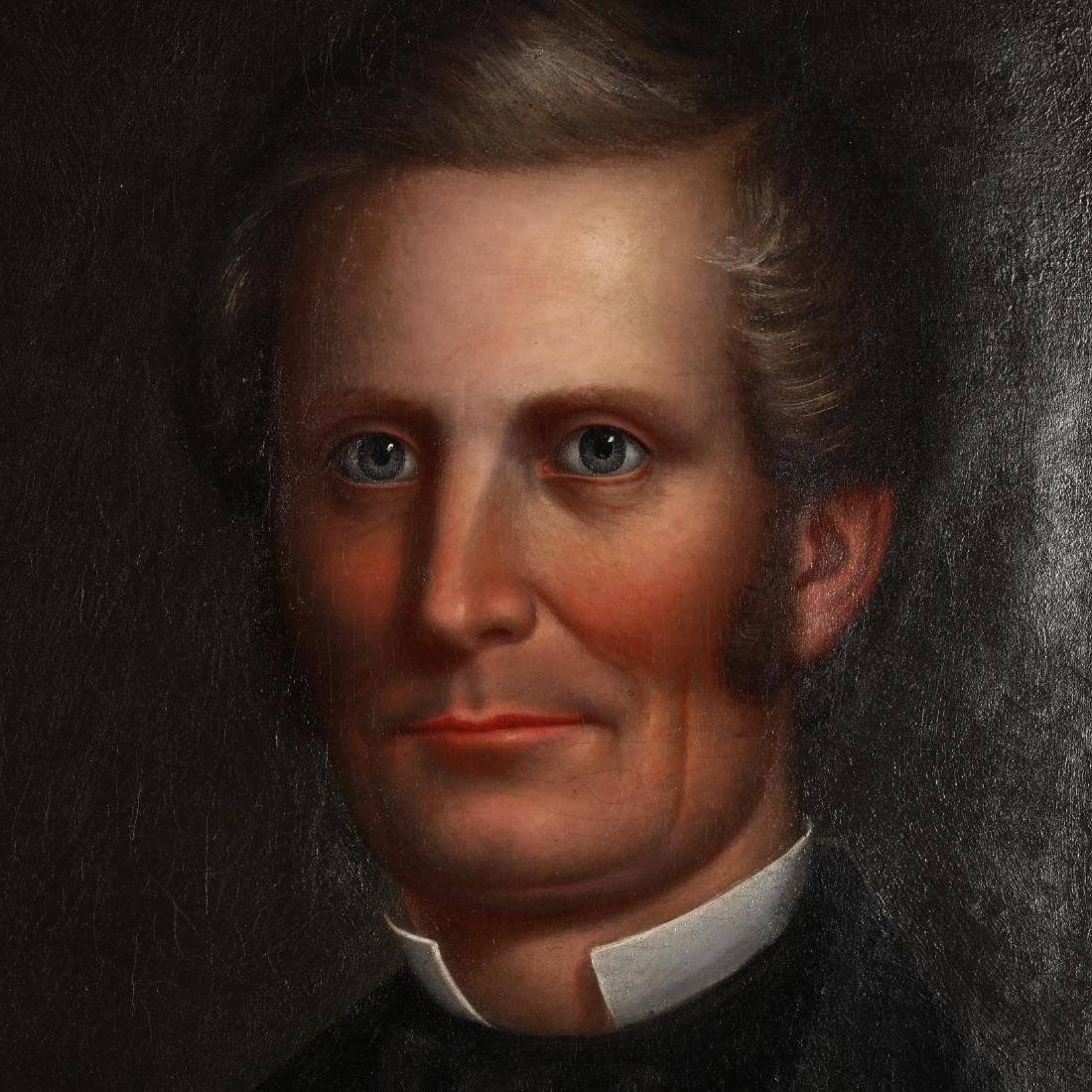 An Antique American School Portrait of a Man - 2
