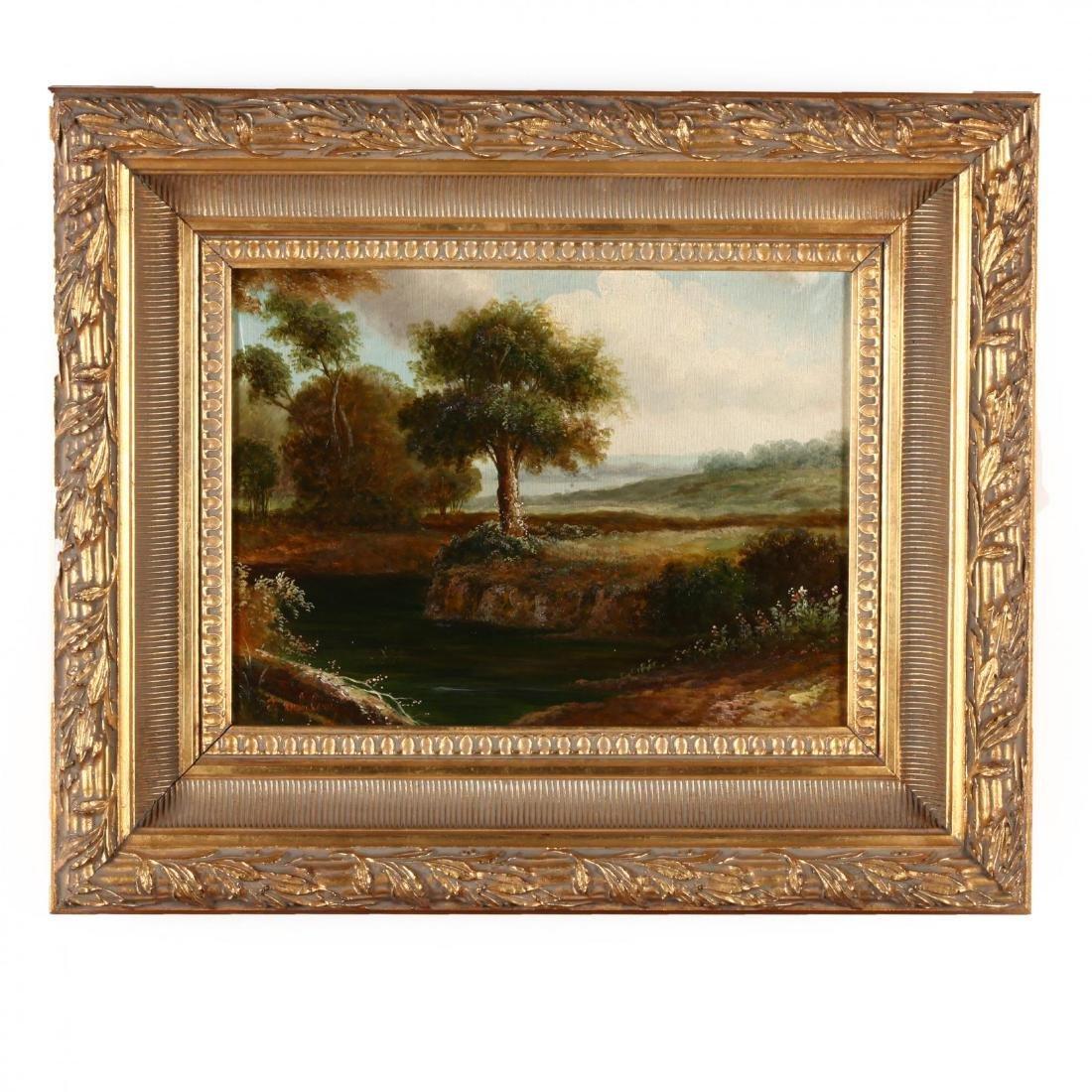 A Pair of Antique Style Decorative Landscape Paintings - 2