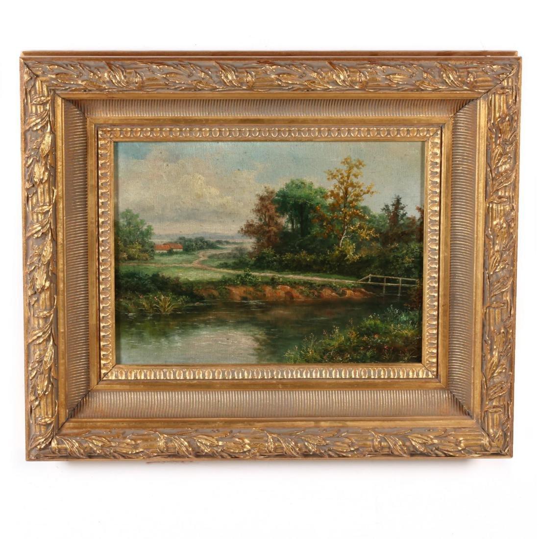 A Pair of Antique Style Decorative Landscape Paintings - 3