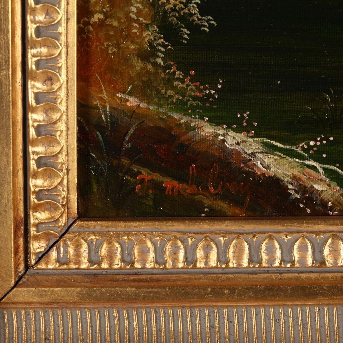 A Pair of Antique Style Decorative Landscape Paintings - 4