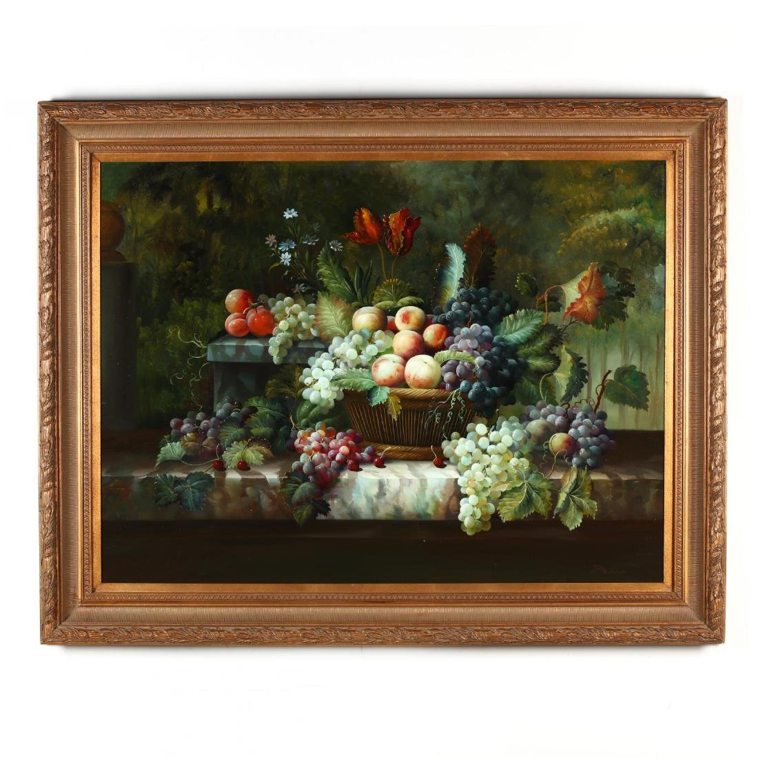 A Large Decorative Contemporary Still Life Painting