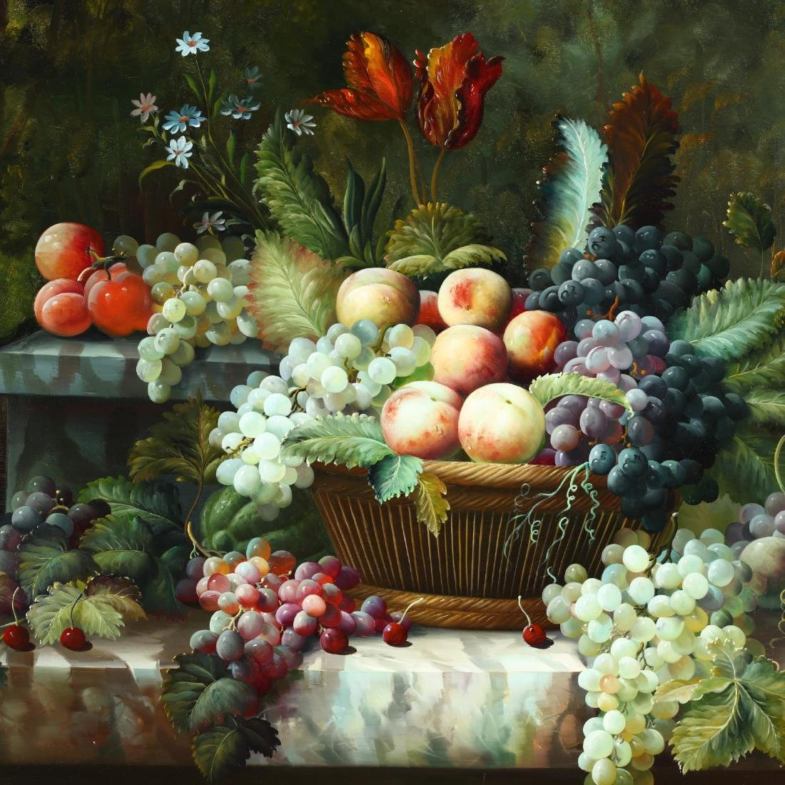 A Large Decorative Contemporary Still Life Painting - 3