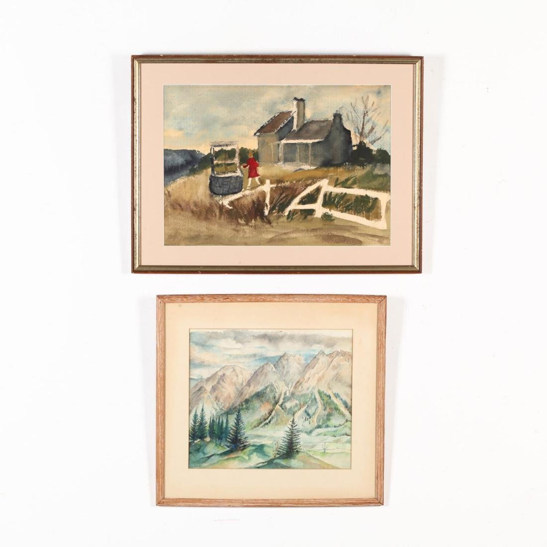 Two 20th-Century Watercolors