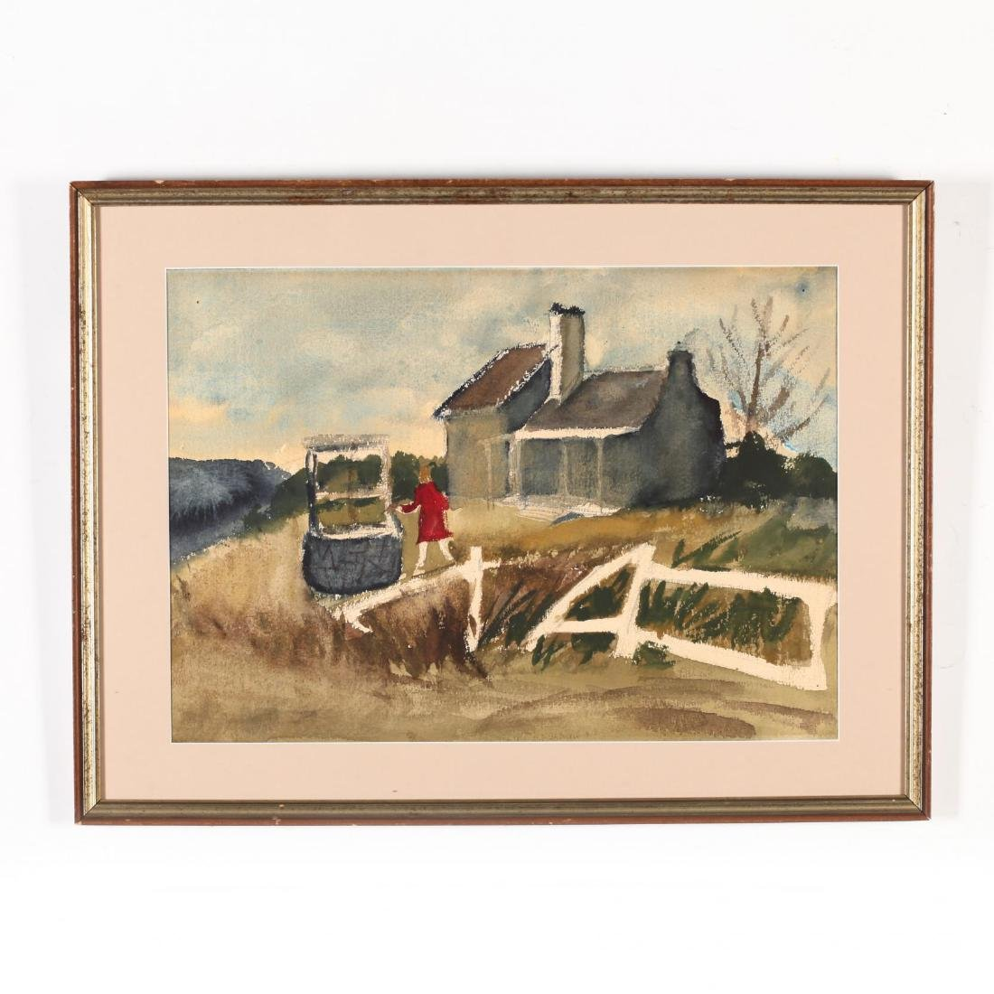 Two 20th-Century Watercolors - 2
