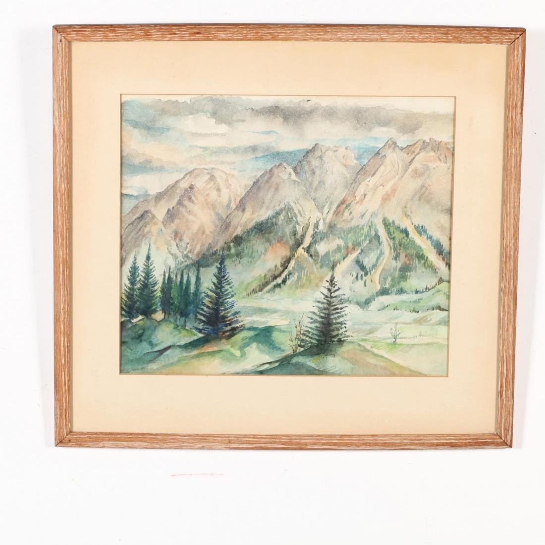 Two 20th-Century Watercolors - 3