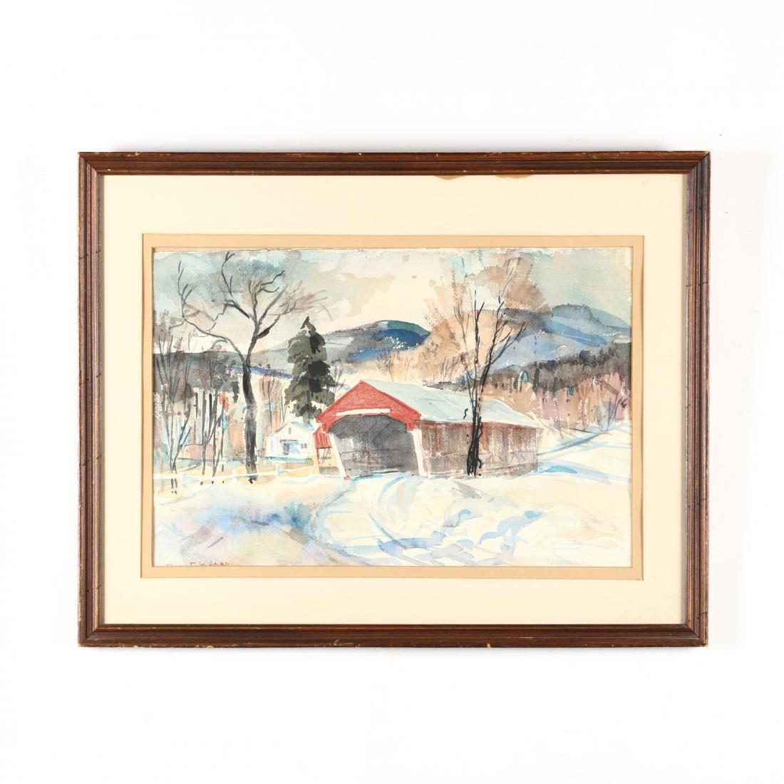 David Curtis Baker (NH/MA, 1915-1999), Mountainscape