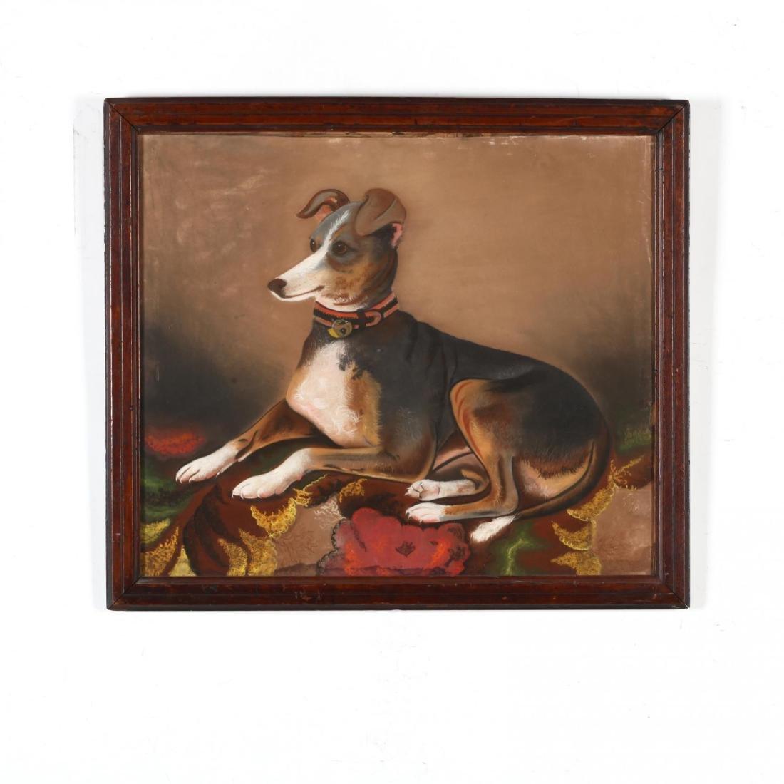An Antique Folk Art Painting of a Beloved Hound