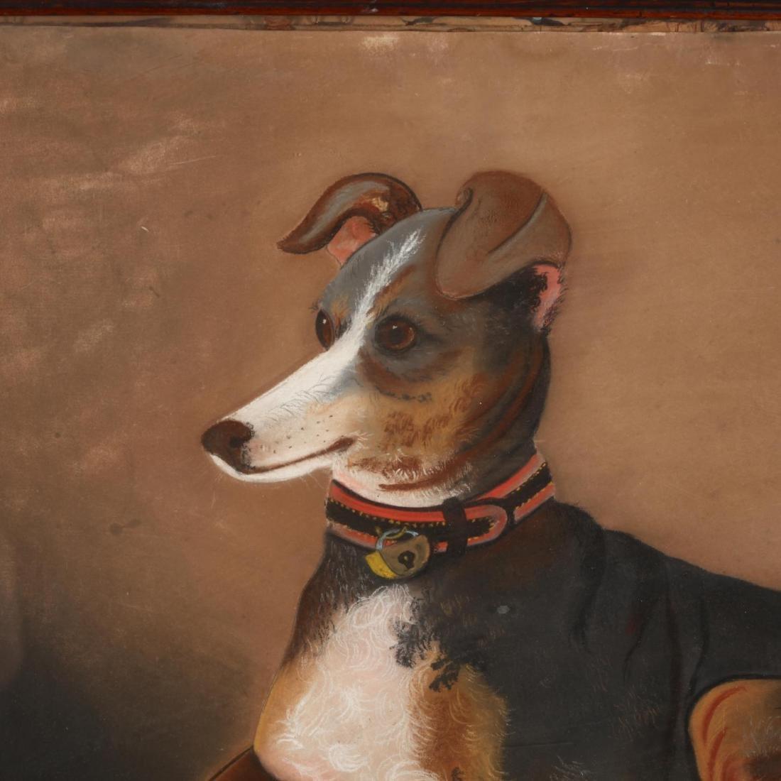 An Antique Folk Art Painting of a Beloved Hound - 2