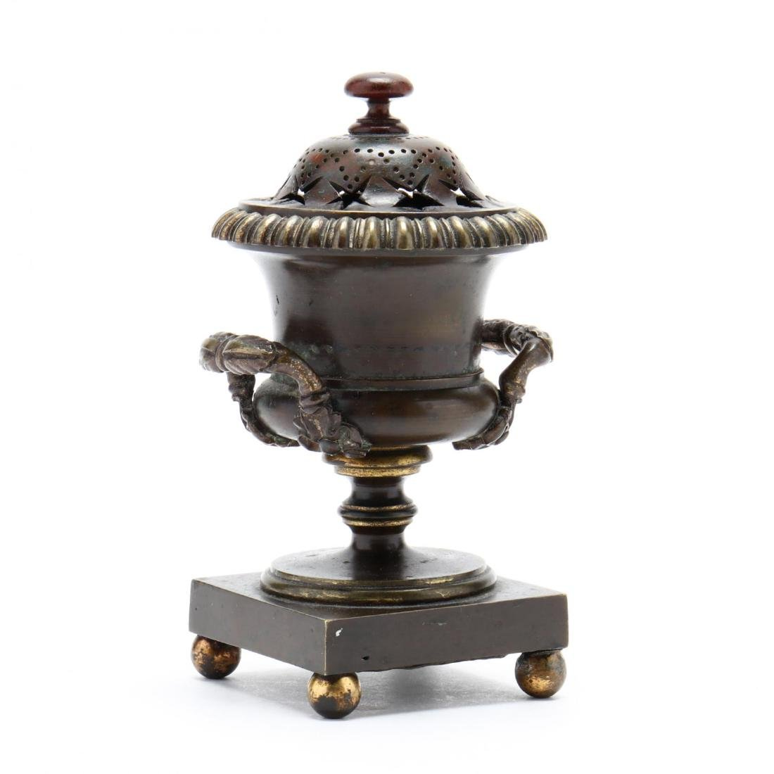 Antique Bronze Lidded Censer