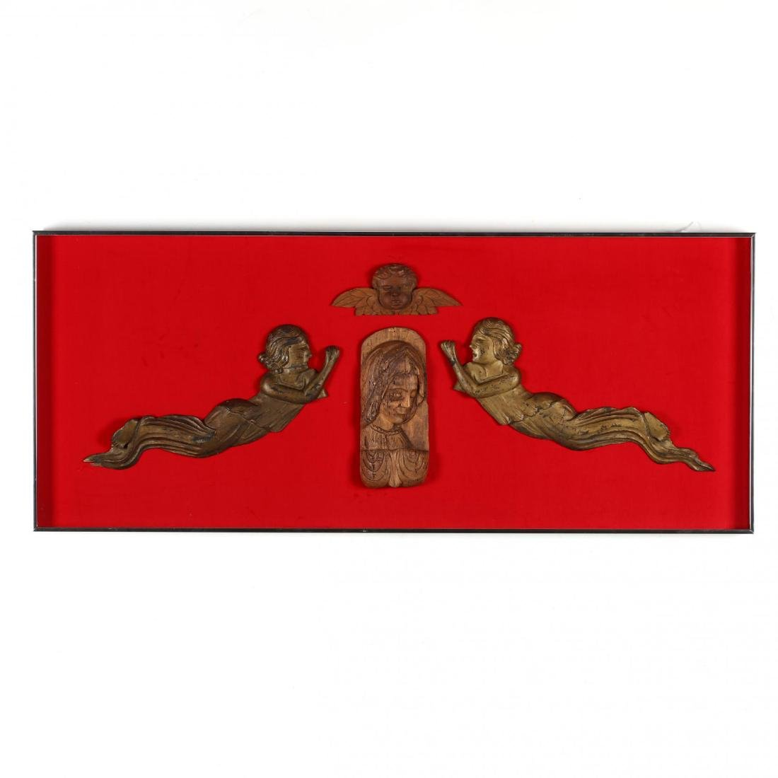 Framed Relief Wall Hanging with Devotional Subjects