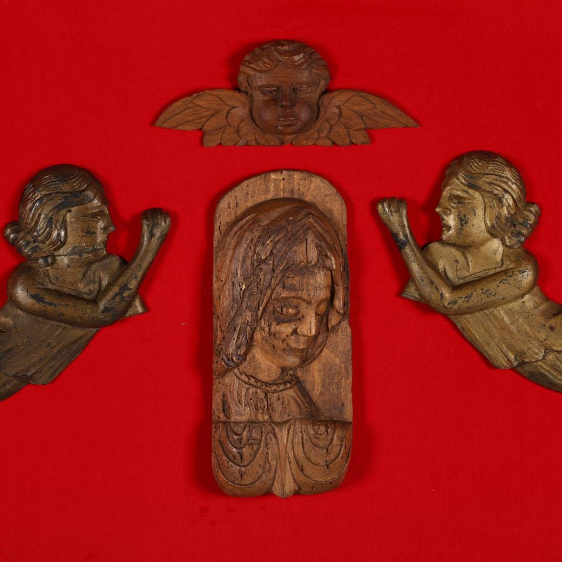 Framed Relief Wall Hanging with Devotional Subjects - 2