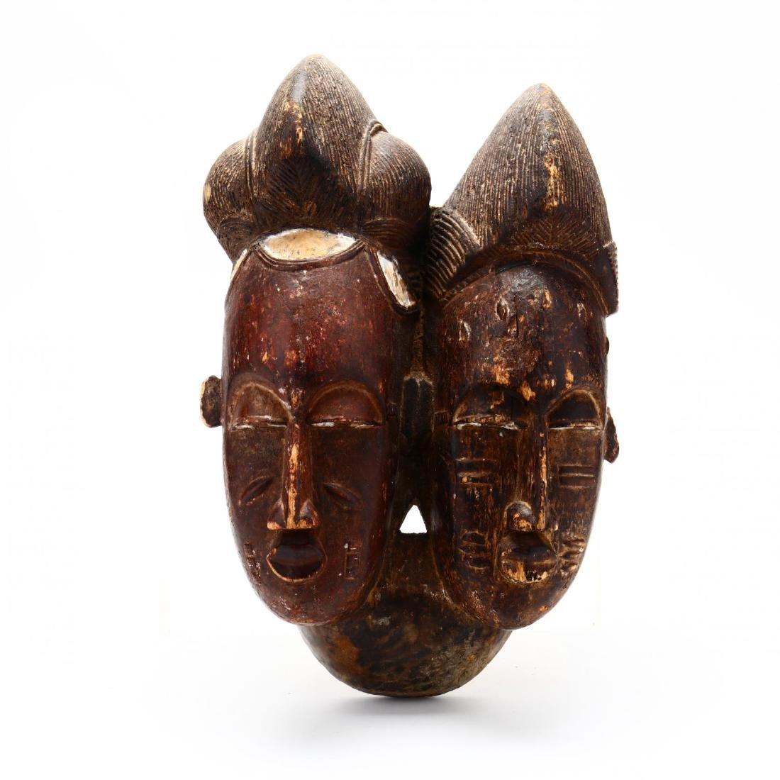 Baule Double-Face Mask,  Côte d'Ivoire  (Ivory Coast)