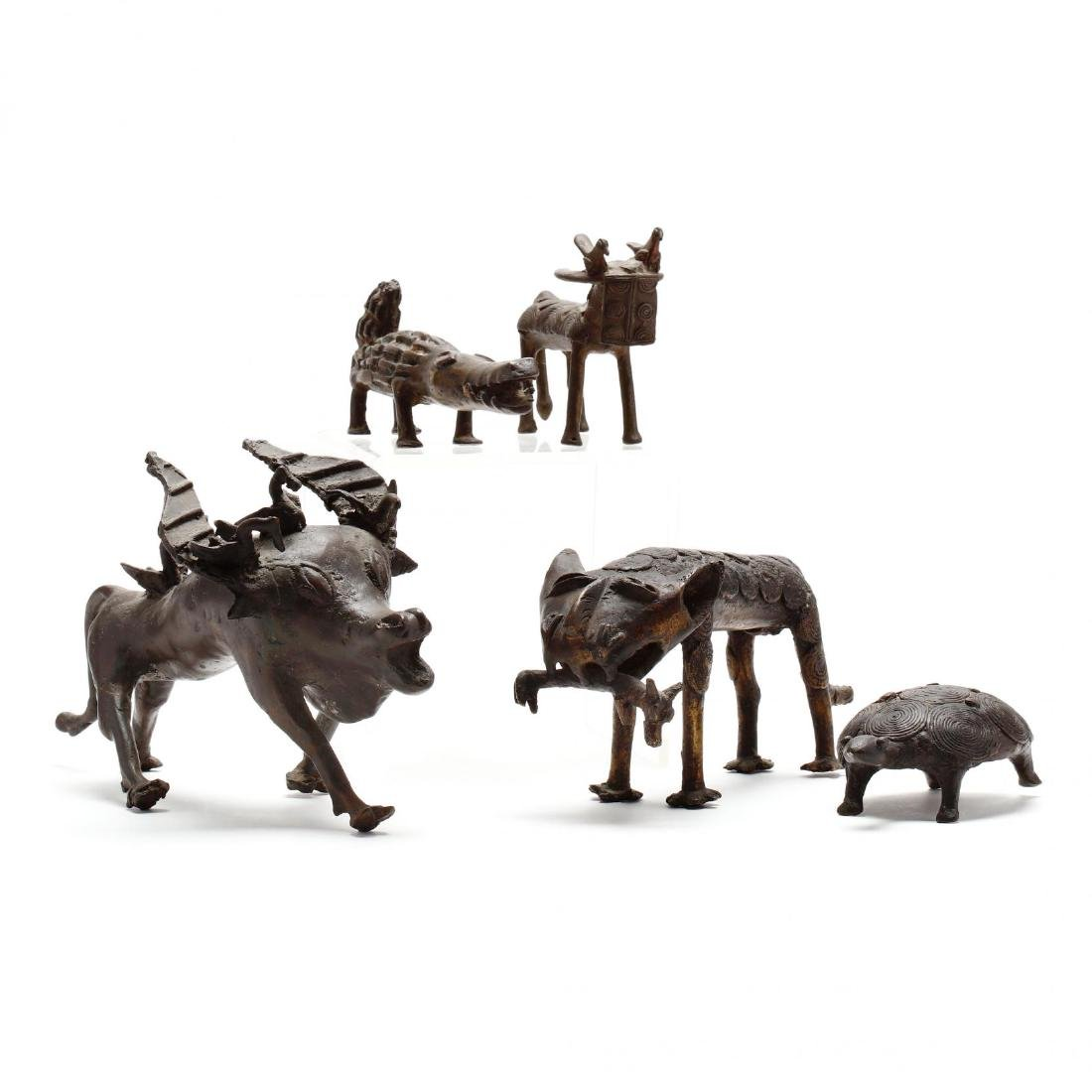 A Group of African Bronze Animals