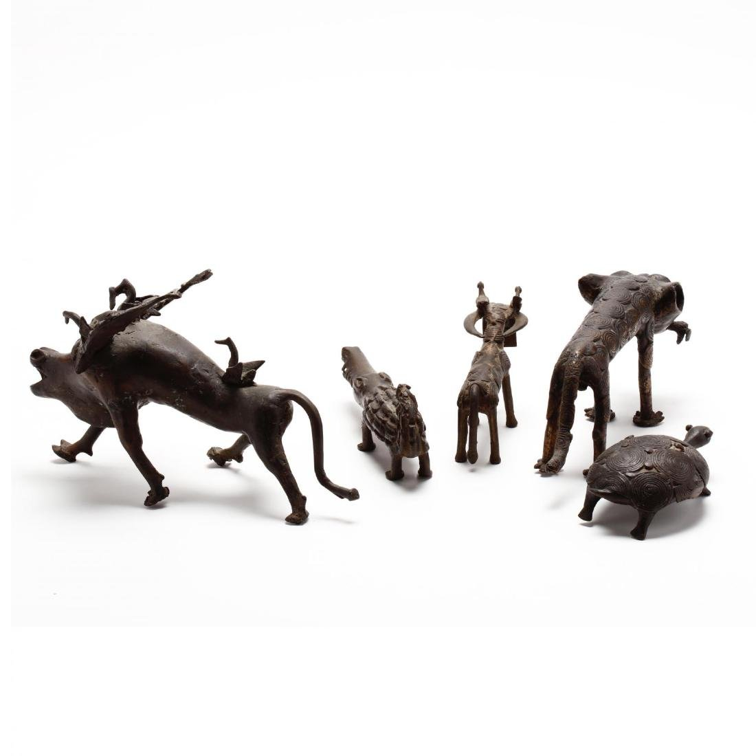 A Group of African Bronze Animals - 6
