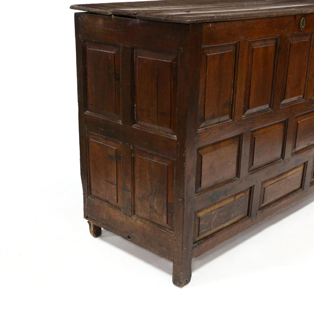 William and Mary Carved Coffer - 3