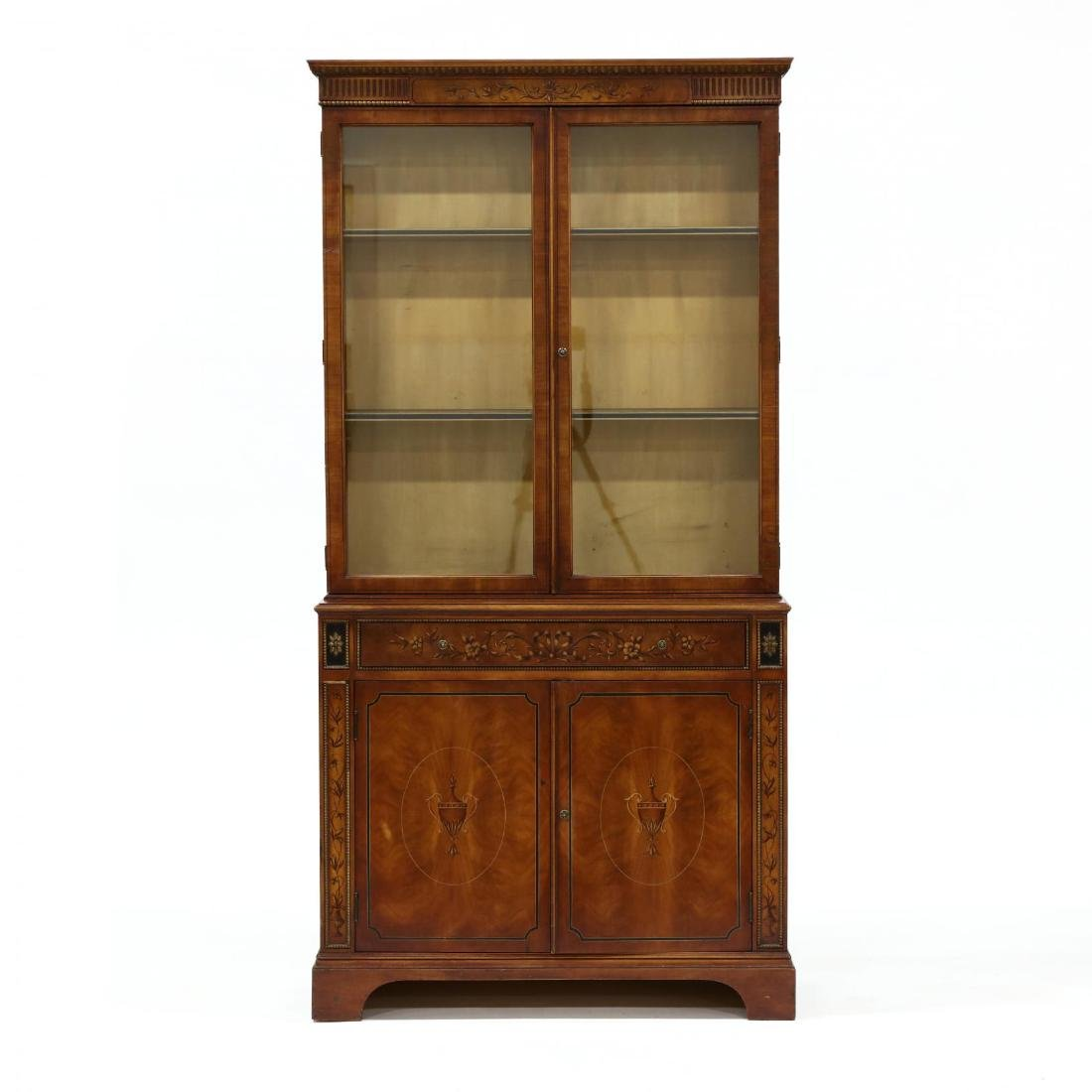 Kindel, Italianate Paint Decorated China Cabinet