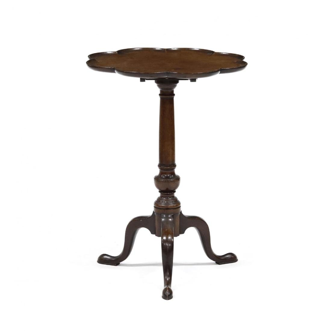 Queen Anne Style Mahogany Tilt Top Candlestand
