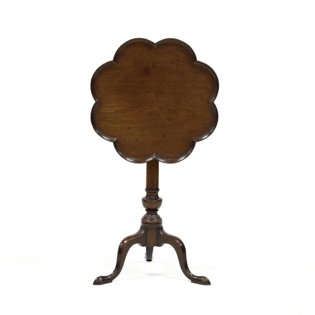 Queen Anne Style Mahogany Tilt Top Candlestand - 2