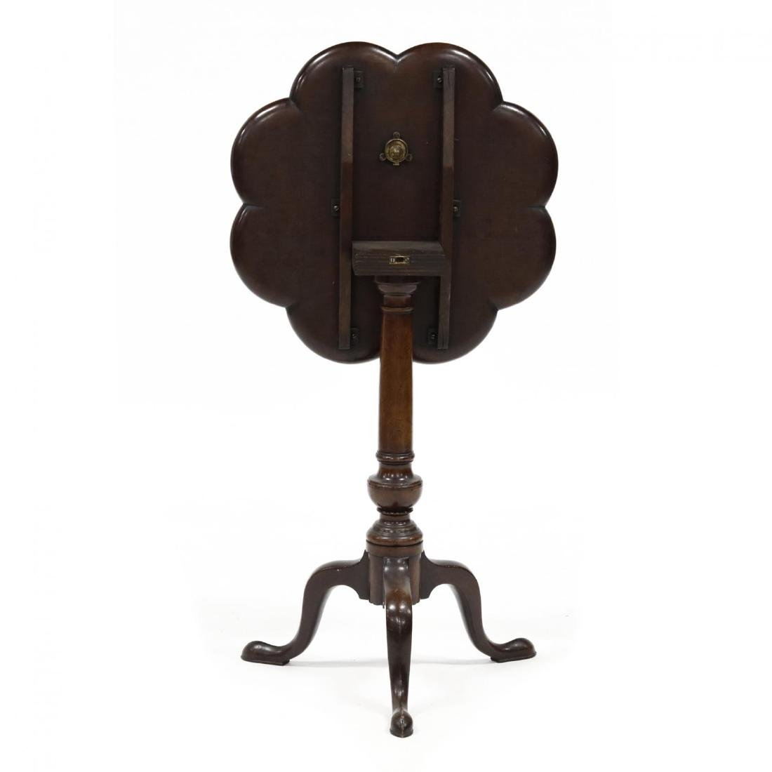 Queen Anne Style Mahogany Tilt Top Candlestand - 3