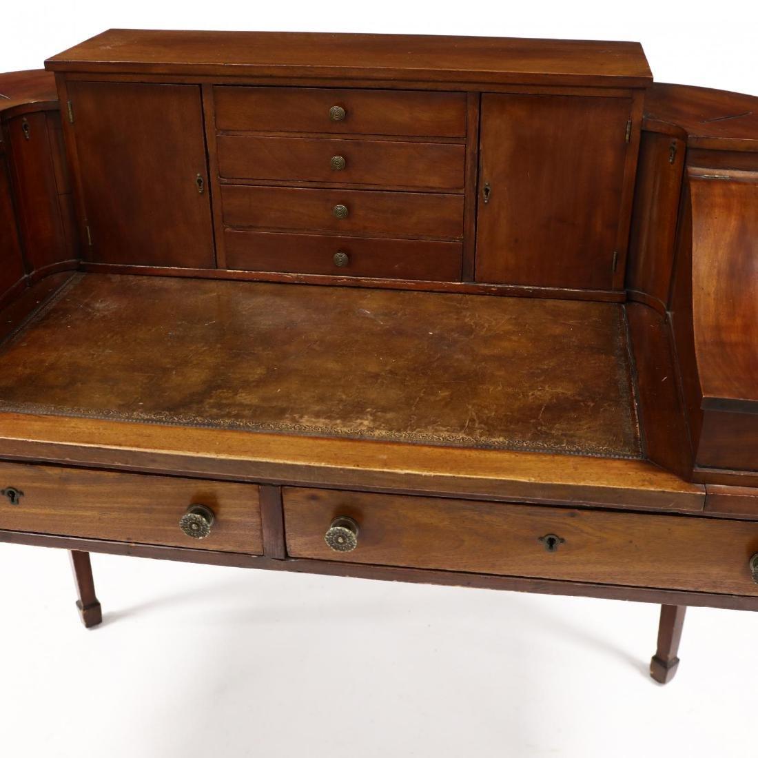 Edwardian Mahogany Carlton House Desk - 2