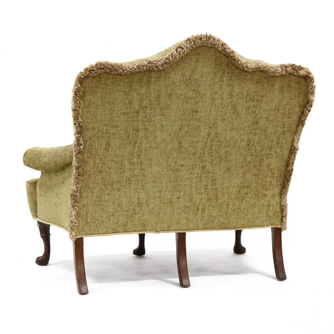 Queen Anne Style Overupholstered Settee - 3