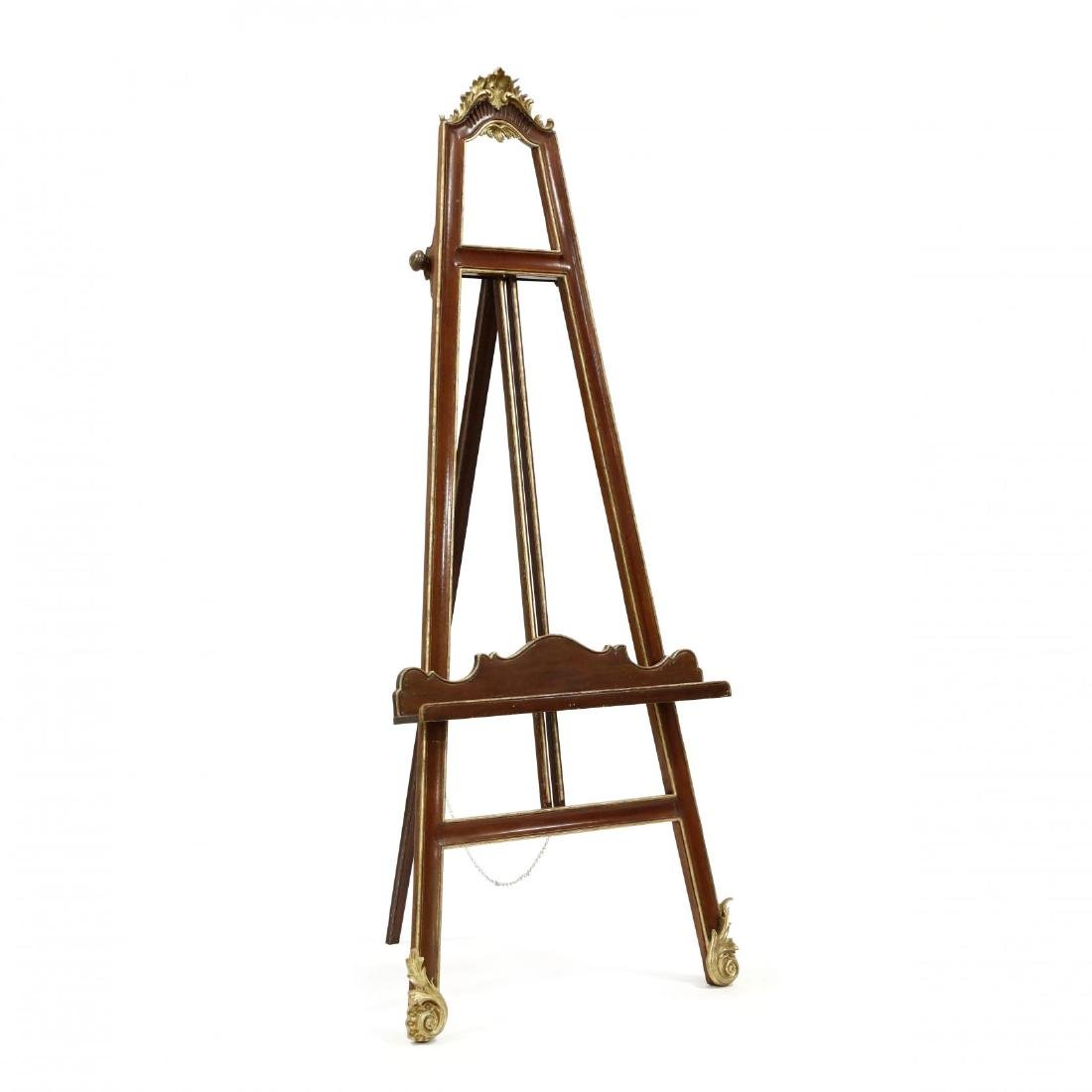 French Rococo Style Carved and Gilt Easel
