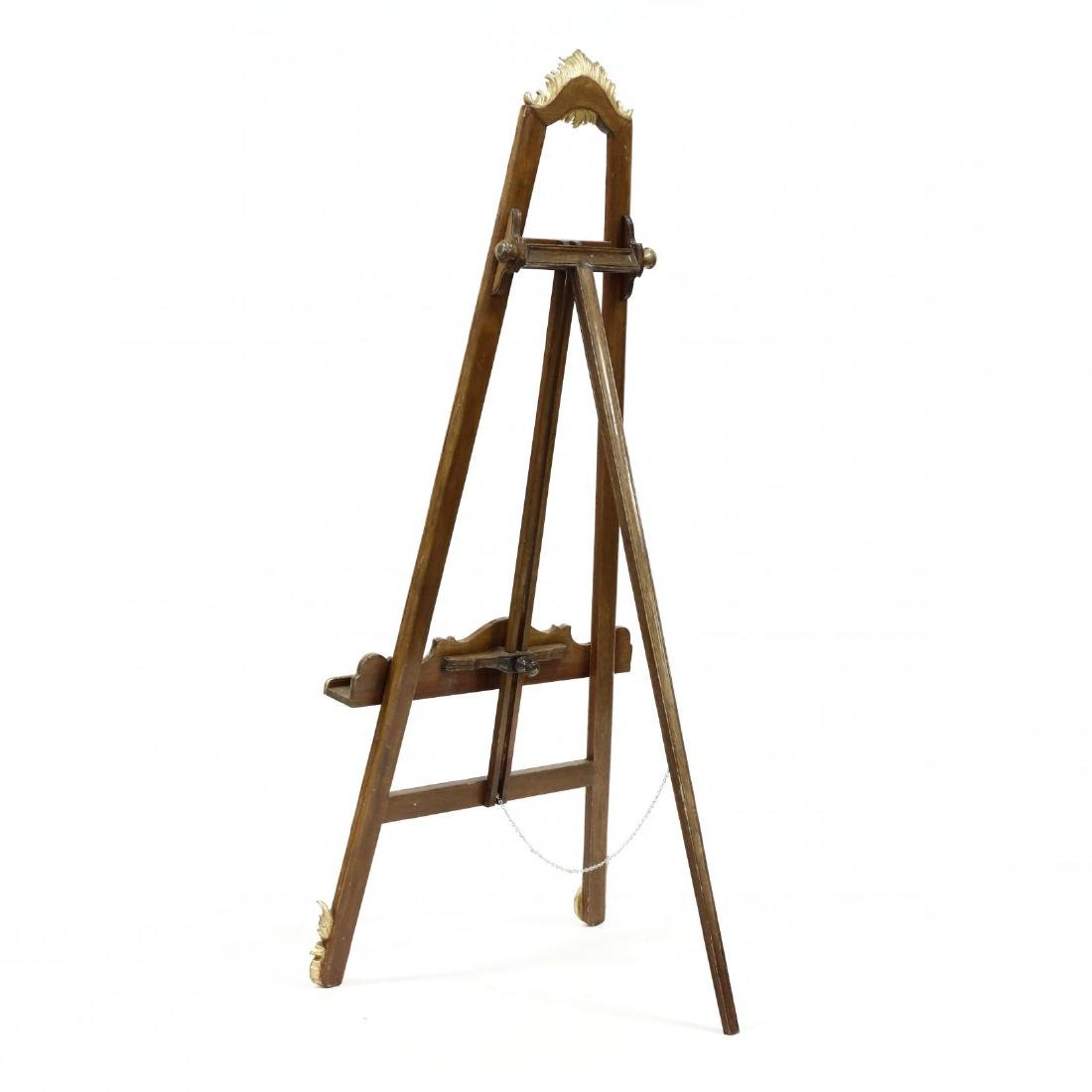 French Rococo Style Carved and Gilt Easel - 4