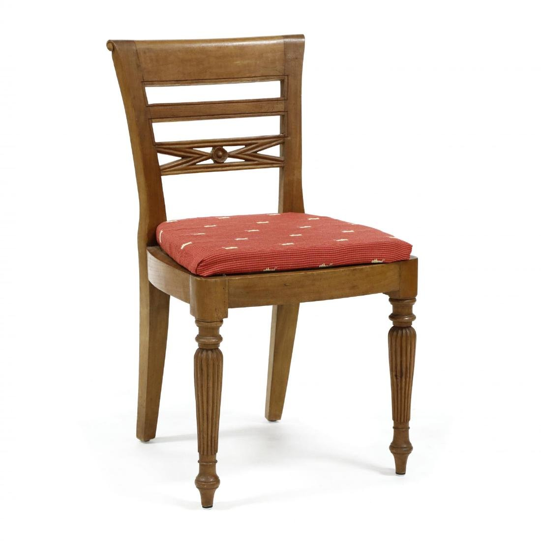 Set of Eight Teak Regency Style Dining Chairs - 3