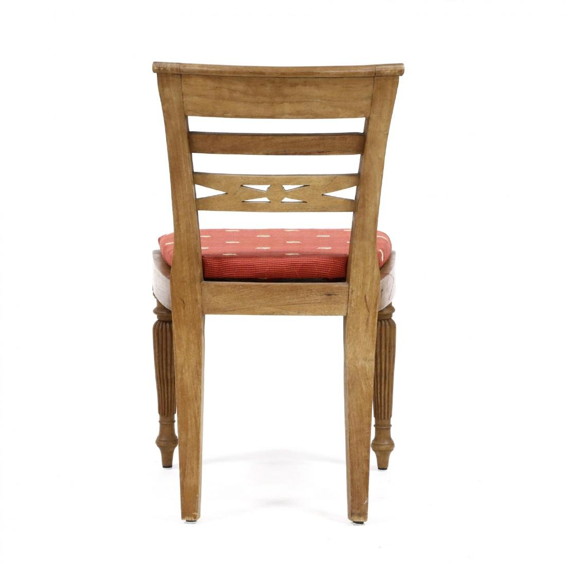 Set of Eight Teak Regency Style Dining Chairs - 6