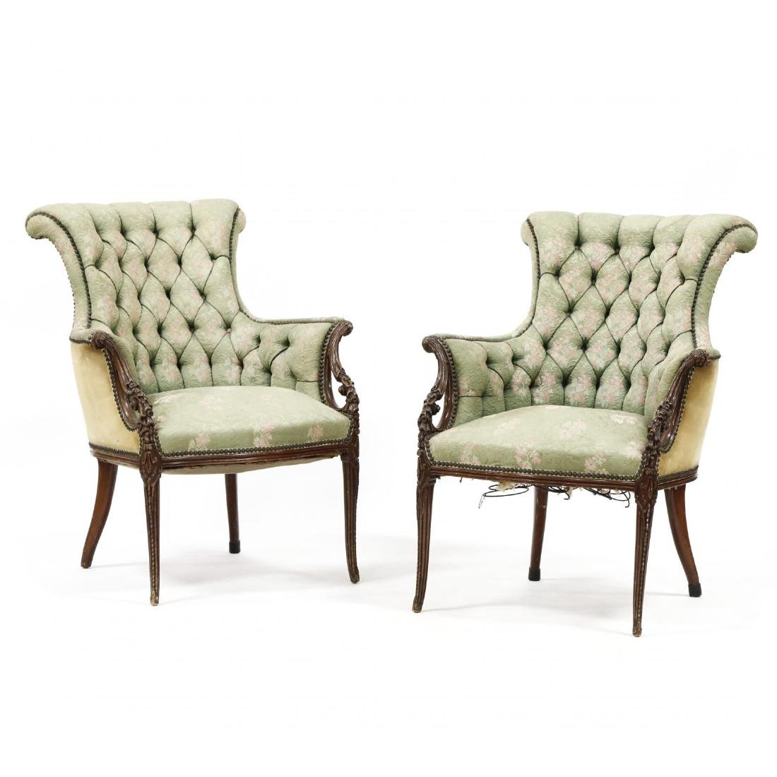 Pair of Edwardian Fireside Chairs
