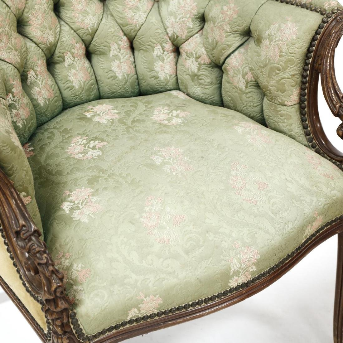 Pair of Edwardian Fireside Chairs - 2