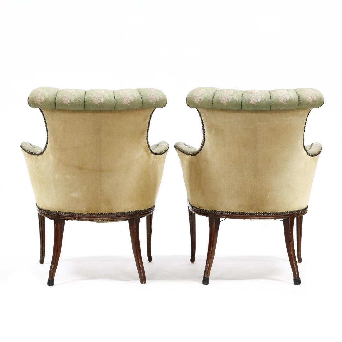 Pair of Edwardian Fireside Chairs - 3