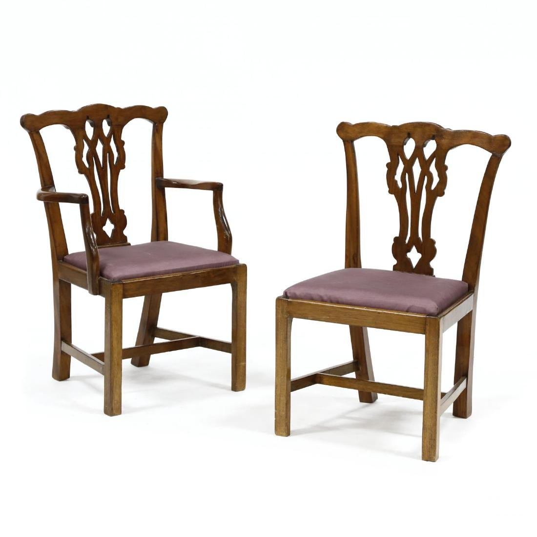 Pair of Chippendale Style Mahogany Child's Chairs