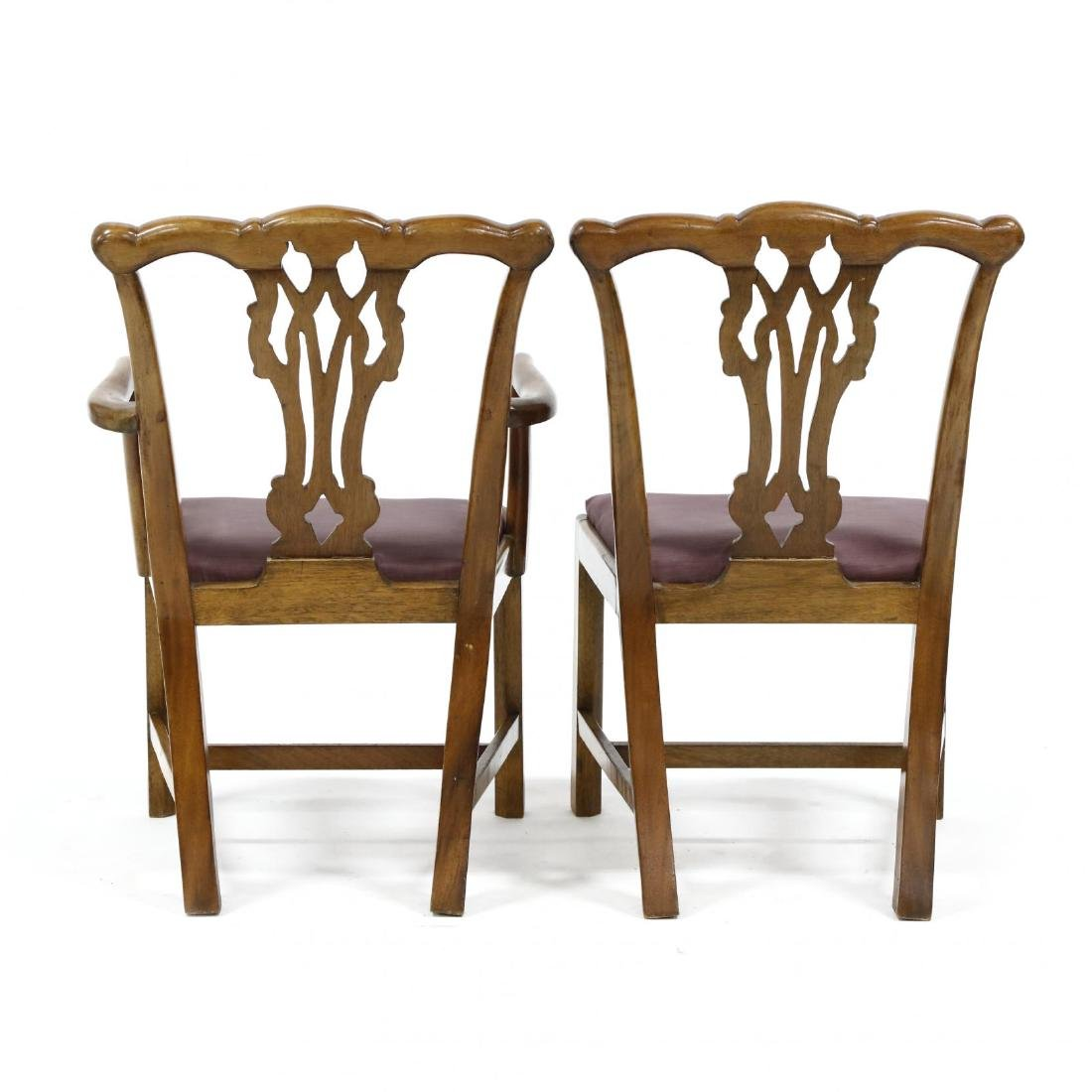 Pair of Chippendale Style Mahogany Child's Chairs - 3