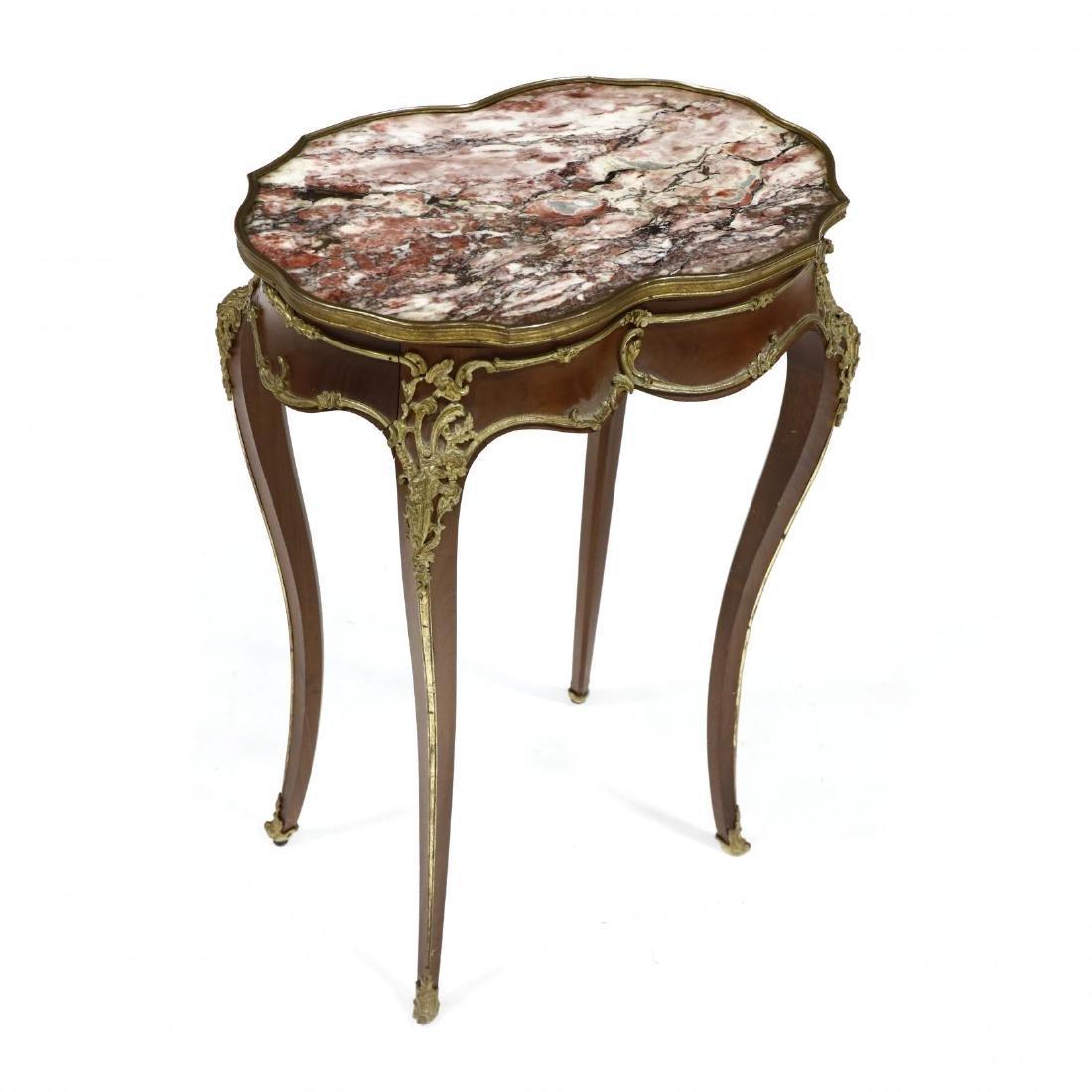 Alexander Chevrié, Louis XV Style Marble Top One - 2