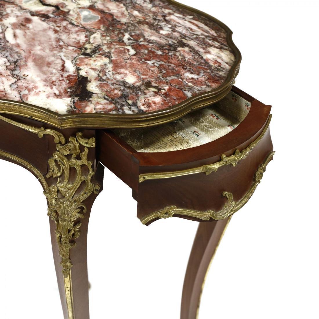 Alexander Chevrié, Louis XV Style Marble Top One - 3