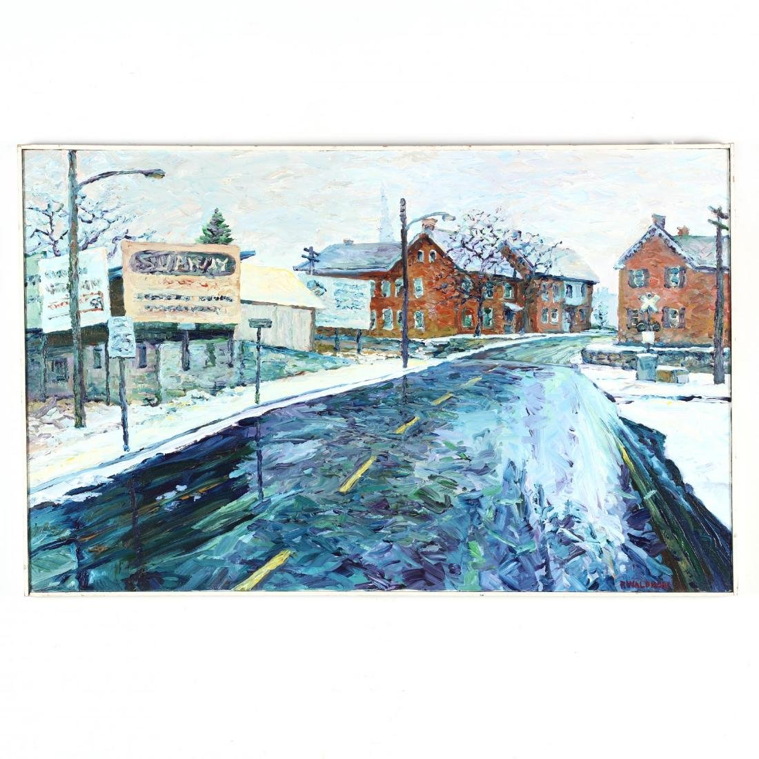 R. Waldron (American), A Winter Street Scene