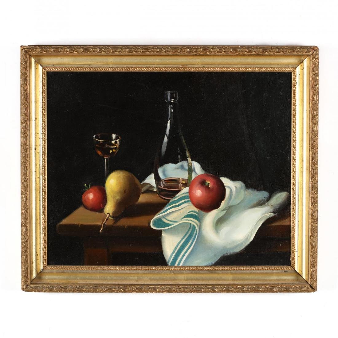 A Vintage Still Life Painting with Fruit
