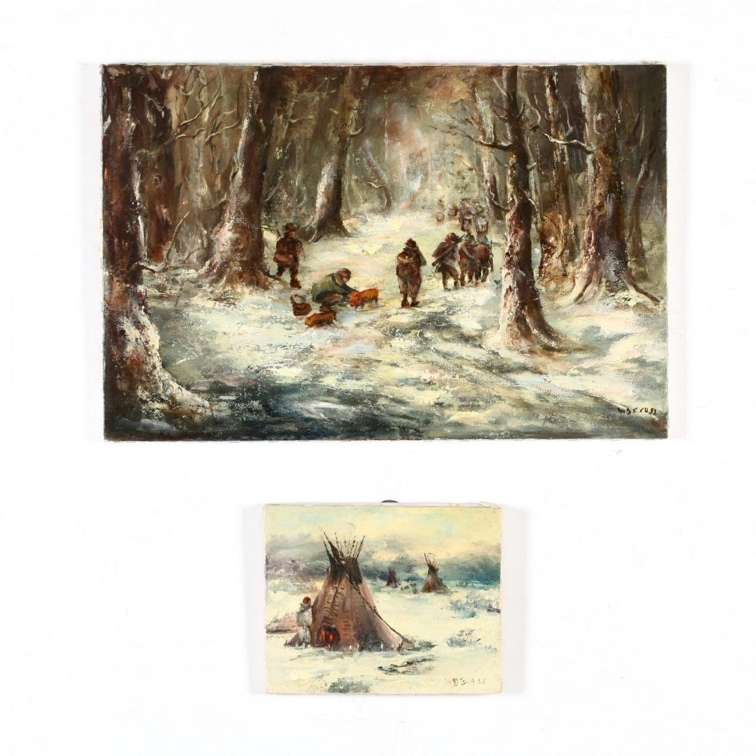 Waltraut Desa (NC, 20th Century), Two Oil Paintings