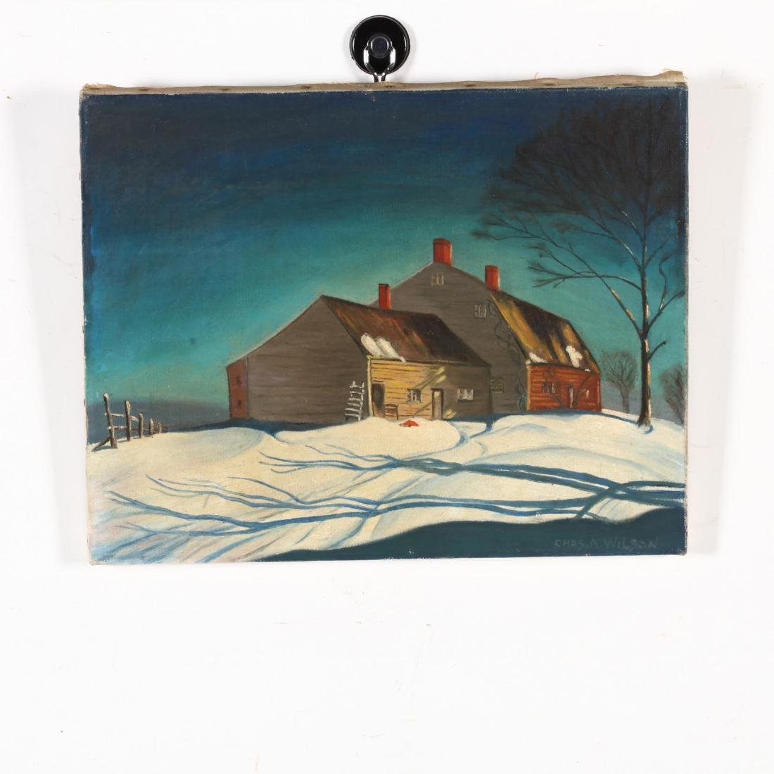 American School (20th C), Two Small Oil Landscapes - 2