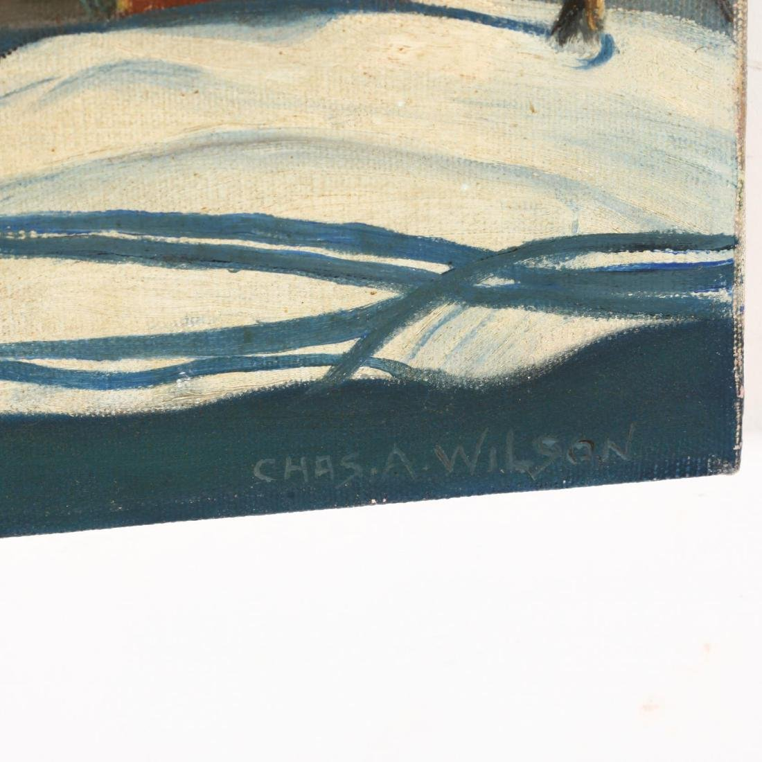 American School (20th C), Two Small Oil Landscapes - 5