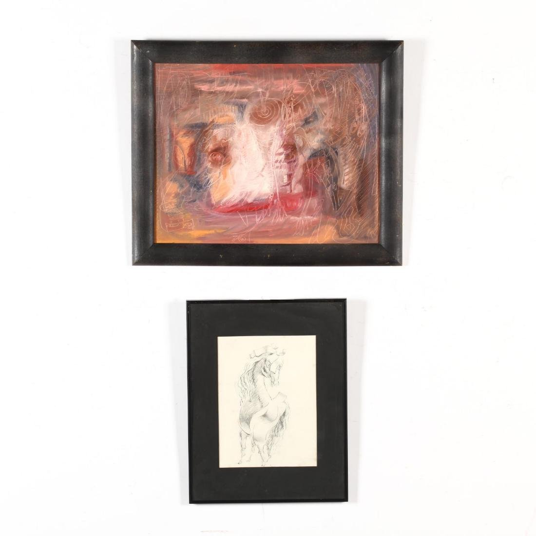 Two Framed 20th-Century Works, inc. Gerard Tempest