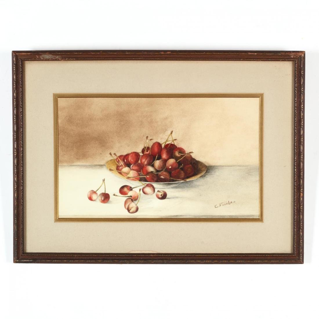 Signed Still Life with Cherries