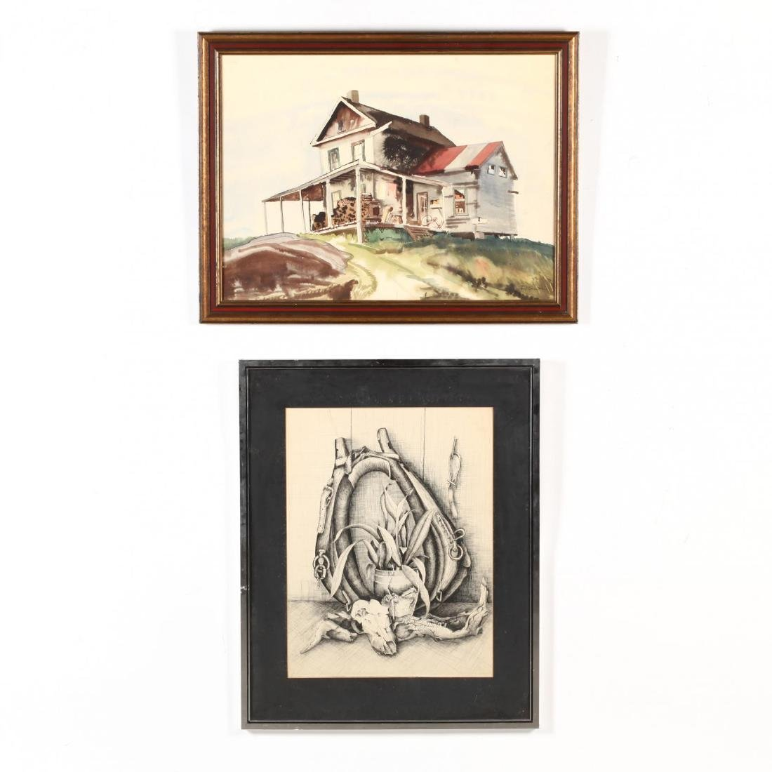 Two Framed American Works