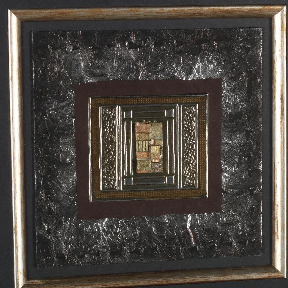 Kate Weston (TX), Pair of Framed Metal Collages - 2