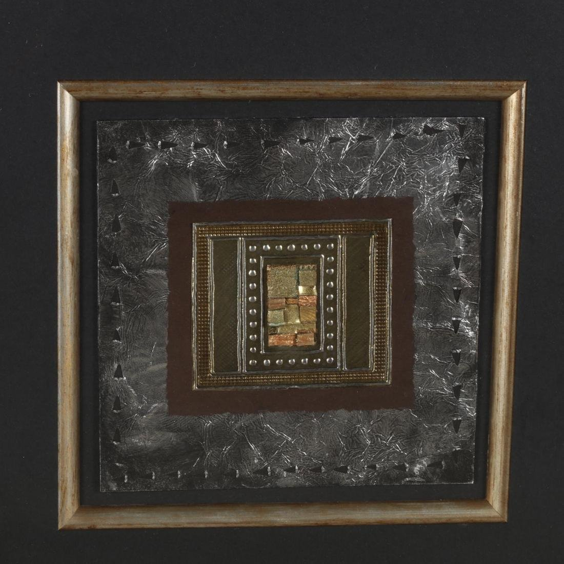 Kate Weston (TX), Pair of Framed Metal Collages - 3