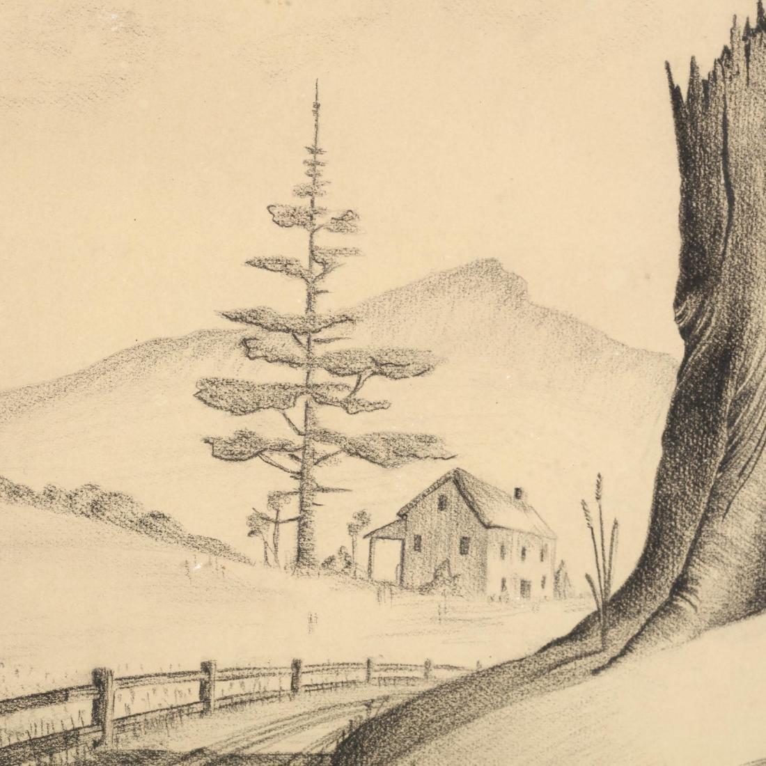 A Vintage American Scene Sketch by John McIntyre - 2