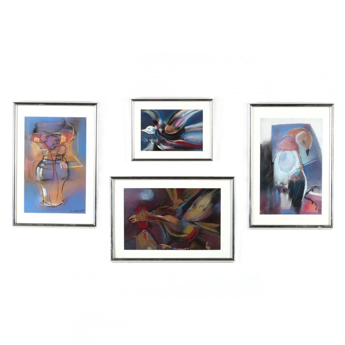Eric Nabatoff (NC), Four Works on Paper