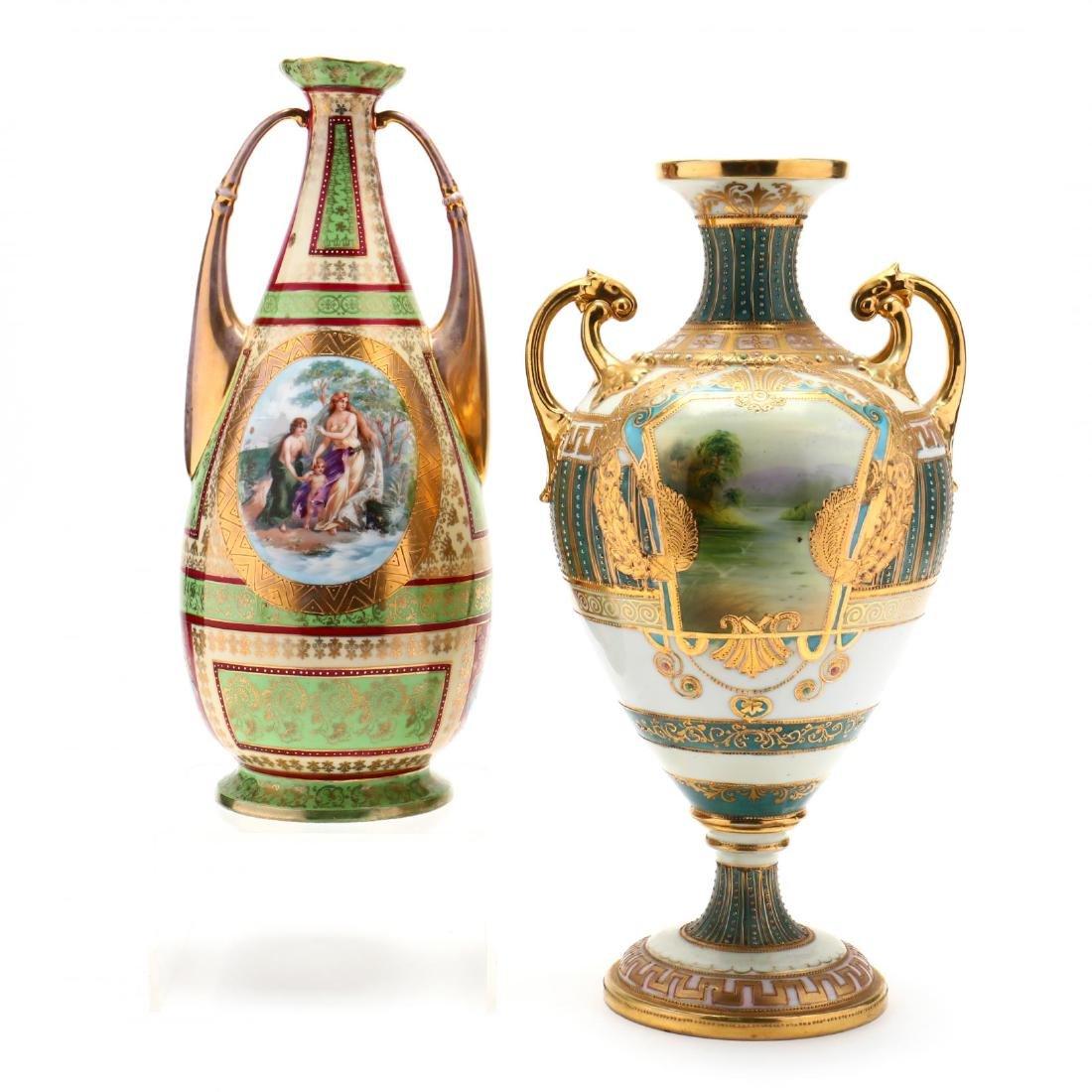 Two Antique Porcelain Vases
